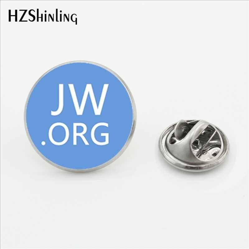 2017 Baru Kedatangan Jw. ORG Stainless Steel Kerah Pin Steampunk Saksi-saksi Yehuwa Kerah Pin Glass Photo Cabochon Bros Perhiasan