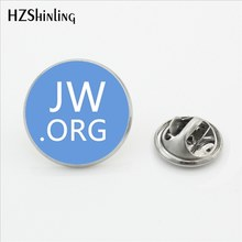 2017 New Arrival JW.ORG Stainless Steel Lapel Pins Steampunk Jehovah's Witnesses Collar Pin Glass Photo Cabochon Brooch Jewelry(China)