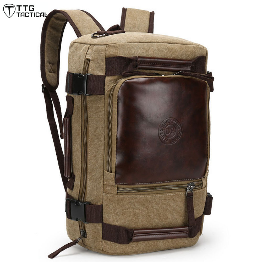 ФОТО Professional  Laptop Backpack Waterproof Canvas Computer Backpack Multi Use Travel Backpack