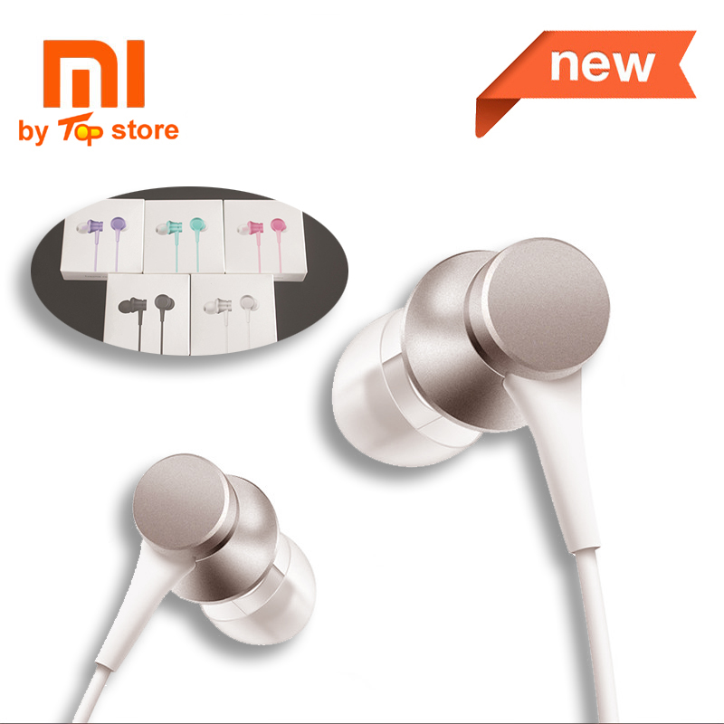 Original Xiaomi Xiomi Youth Version In-ear piston 3 Earphone with Mic Wire Control MI headset for mobile phone fone de ouvido 50pcs wholsale genuine honor am12 engine earphone with mic 3 keys drive by wire 3 5 mm earphone for iphone 6 xiaomi mobile phone