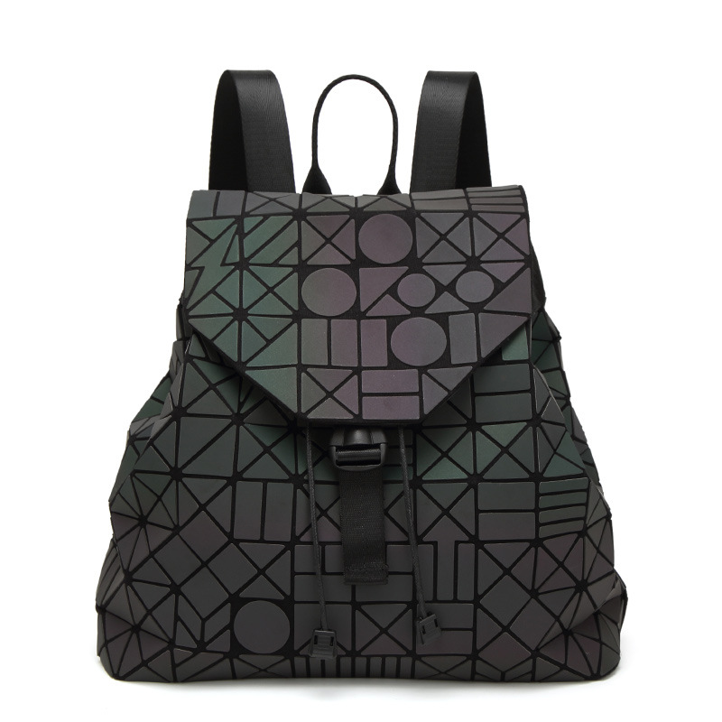 Hot Sale Laser BaoBao Unisex Backpack Women Dazzle Color Plaid Female Fashion Sequins Mirror Free shipping