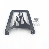 Motorcycle Sissy Bar Luggage Rack Black Flame For Harley Custom Softail Sportster 883 1200