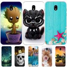 FOR Capa Samsung Galaxy J5 2017 J530F EU Version Case Cute Cat Animal Shell Silicone TPU Cover FOR Funda Samsung J5 2017 Cases цена и фото