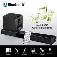 20 Вт звуковая панель Bluetooth Саундбар колонка двойной сабвуфер динамик домашний кинотеатр объемная звуковая система подвесная настенная Встроенная 3D стерео