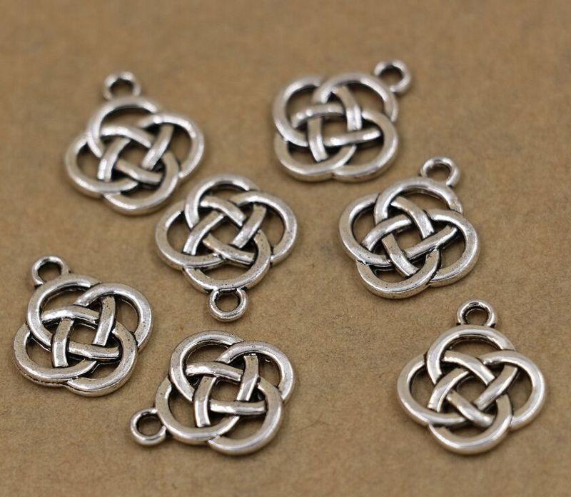 Hot ! 10 Pcs Antique silver Oval Celtic Knot Charm Pendants Jewelry DIY 17.5X13mm cx82