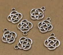 Hot ! 10 Pcs Antique silver Oval Celtic Knot Charm Pendants Jewelry DIY 17.5X13mm cx82