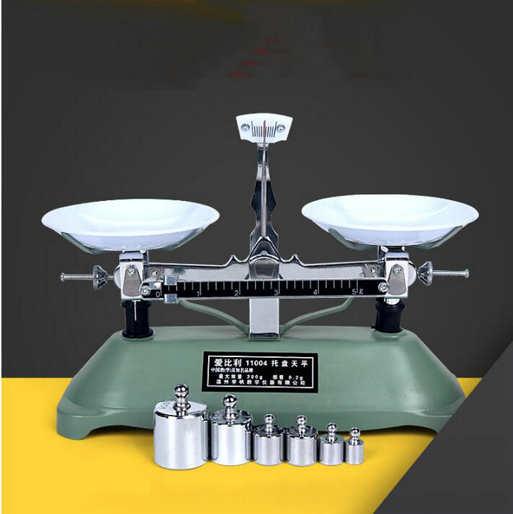 Free shipping 200g 0.2g Frame-pan balance, table balance, mechanical balance with weight for kids learning physical class цена