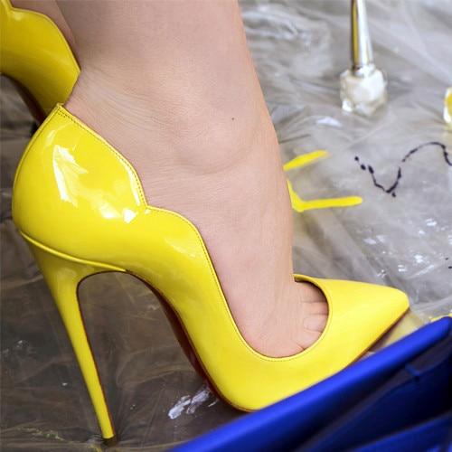 new Women High Heel Women's Pumps Wholesale Shoes Pointed Toe Sexy Bridal Pumps Evening Wedding Shoe Sandals Shoes Large Size