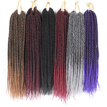 TOMO 12″ 14″ 16″ 18″ 20″ 22″ 20 Roots Senegalese Twist Hair Crochet Braids 15 Colors Crochet Hair Kanekalon Fiber Braiding