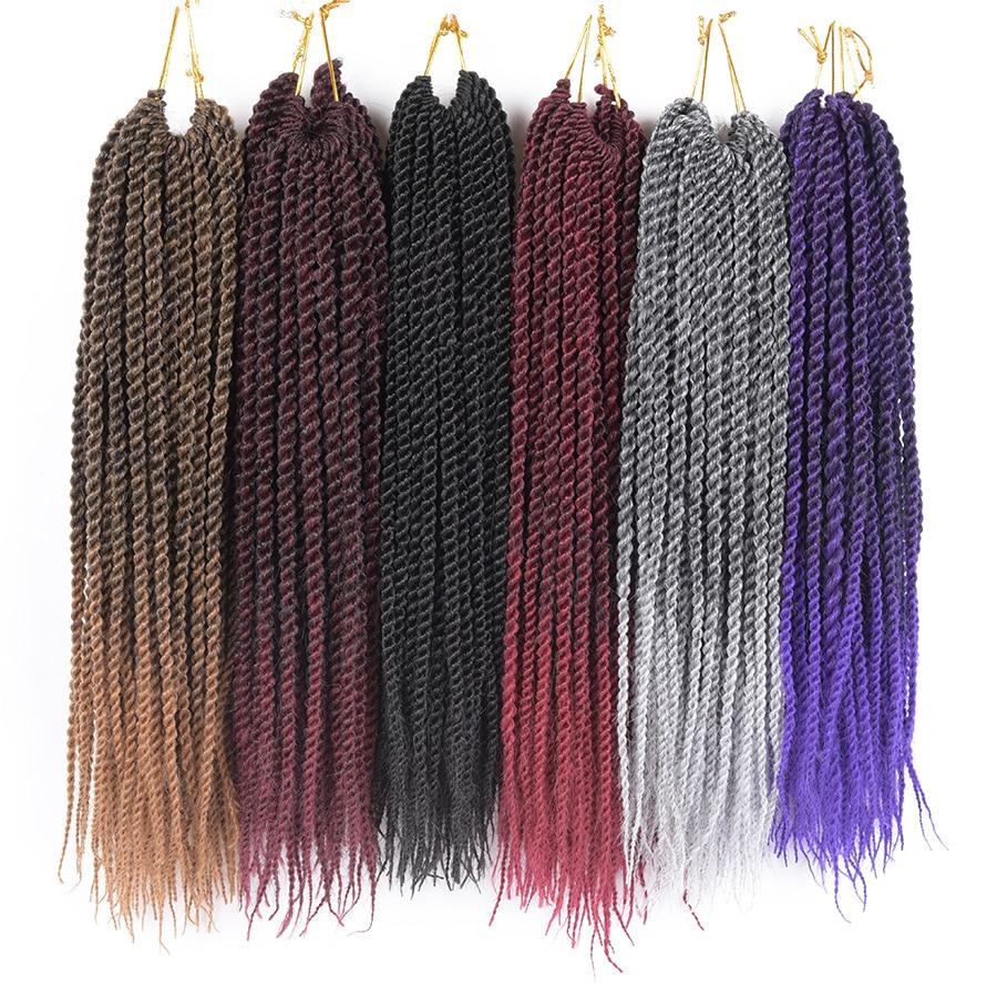 TOMO 12 14 16 18 20 22 22 Roots Senegalese Twist Hair Crochet Braids 15 Colors Crochet Hair Kanekalon Fiber Braiding ...
