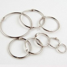 ID15,20,25,32,40,50,63,75mm DIY photo album loose-leaf book card ring silver circle binding iron hoop opening buckle snap