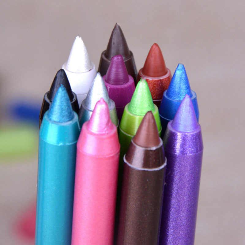 1 Cái Mới 12 Màu Thời Trang Nữ Kẻ Mắt Chì Kẻ Mắt Trang Điểm Mỹ Phẩm Nghệ Thuật Chống Thấm Nước Eye Brow Bút Vẻ Đẹp Trang Điểm