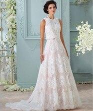 Luxury A Line Wedding Dress 2016 Princess Style Plus Size Two Piece Bridal Gowns Softly Lace Skirt Vestido De Noiva Bride Party