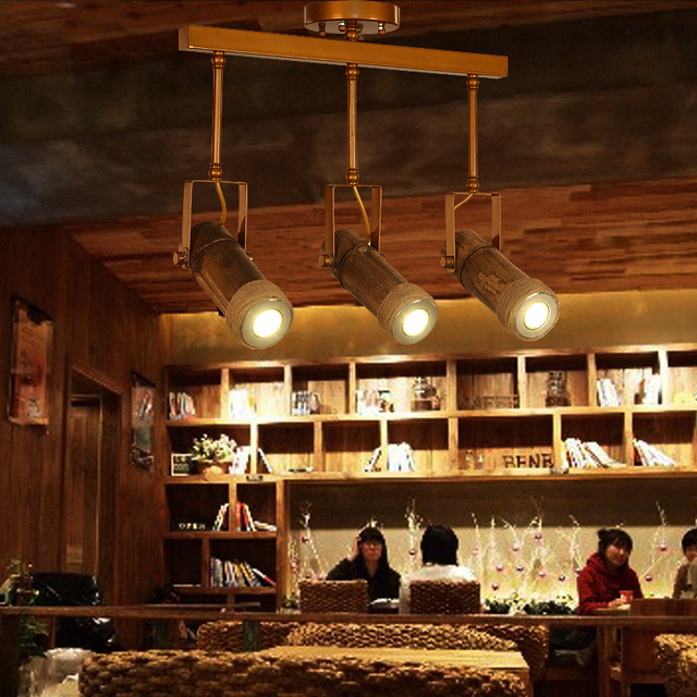 Pendant Lighting For Restaurants Rope Bamboo Tube Hanging