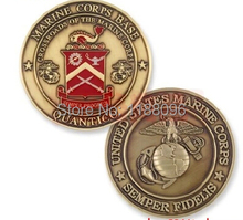 2014 Wholesale and retail Custom  Marine usa coins engraved coin medal promotional jewelry personalized Crafts hl50065
