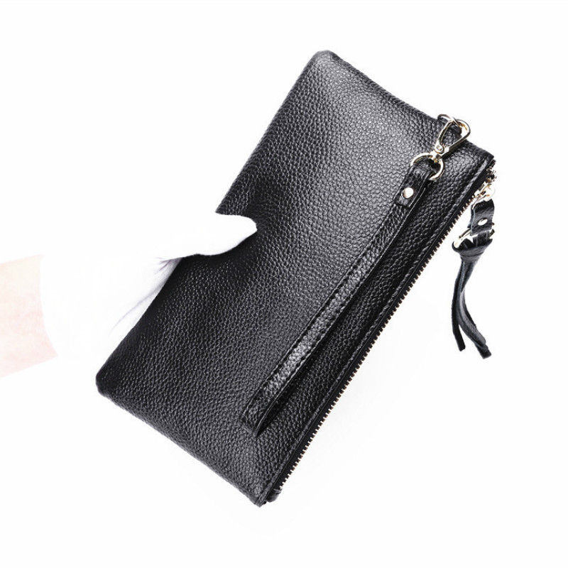 2018 solid Pu Leather Women Men Fashion Slim Coin Purse Mobile Phone Ho
