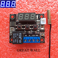 W1209 LED Azul DC 12 V calor temperatura fria termostato switch controle de temperatura controlador de temperatura termômetro controlador thermo