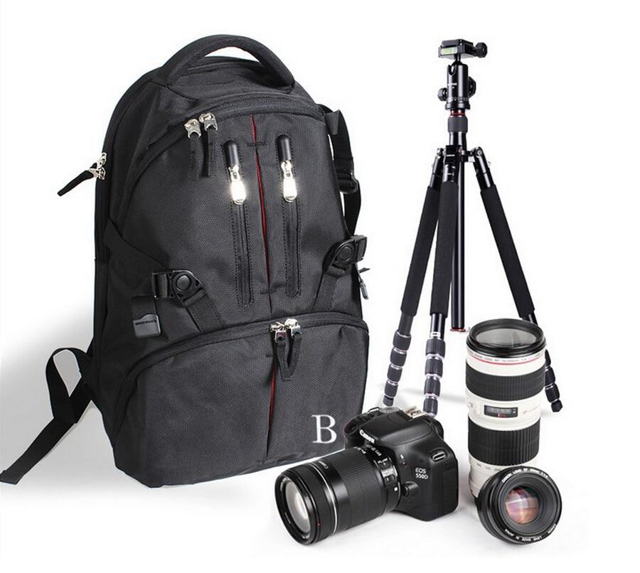 Camera Bag Case Backpack Nylon Waterproof Bag with Rain Cover for DSLR SLR Flash Tripod Camera Bag Case Backpack Nylon Waterproof Bag with Rain Cover for DSLR SLR Flash Tripod