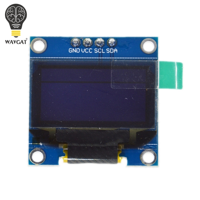 "0.96 inch OLED IIC Serial White Display Module 128X64 I2C SSD1306 12864 LCD Screen Board GND VCC SCL SDA 0.96"" for Arduino Black 2"