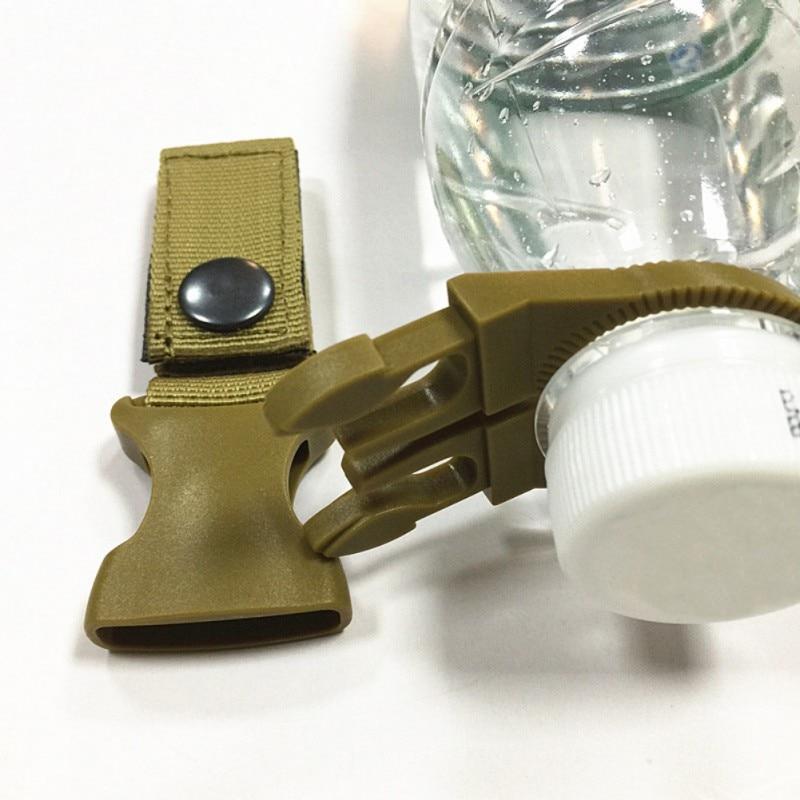 Conveniente Senderismo al aire libre Portátil Táctico Nylon Correas Hebilla Gancho Botella de agua Clip Clip EDC Cinturón Titular de botella