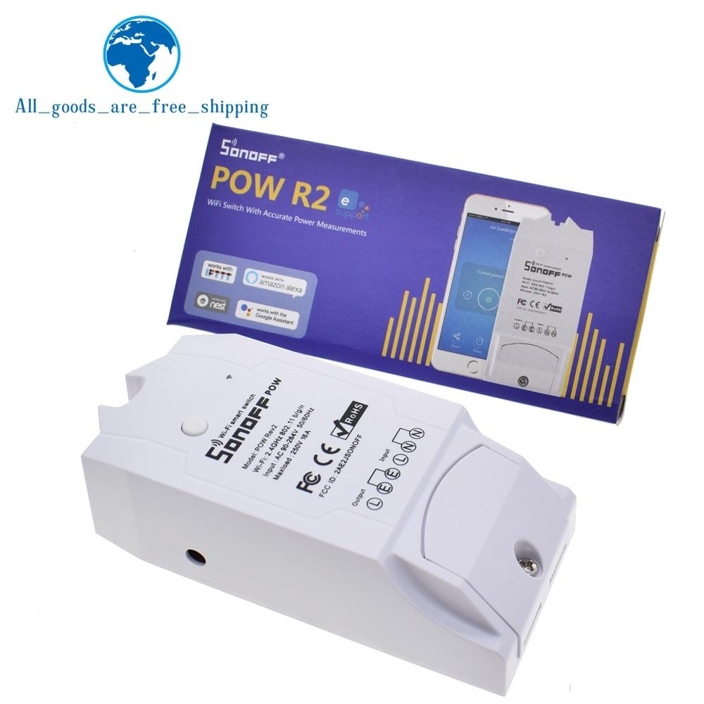 Sonoff Pow R2 15A 3500 Вт Wifi смарт коммутатор Высокая точность энергопотребление измерительный монитор Потребление энергии тока работа с Alexa-in Интегральные схемы from Электронные компоненты и принадлежности on AliExpress