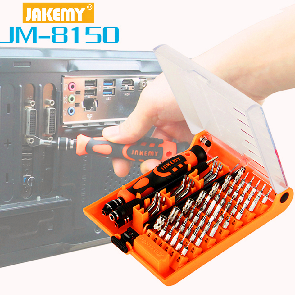 JAKEMY JM-8150 Laptop Screwdriver Set Professional Repair Hand Tools Kit for Mobile Phone Computer Electronic Model DIY Repair