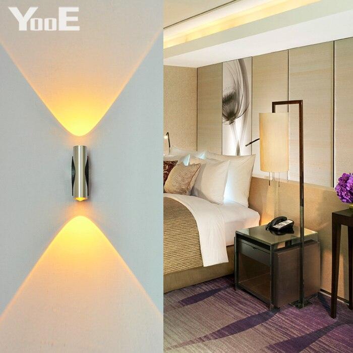 Lâmpadas de Parede luz conduzida da parede frio/quente Base : Cunha