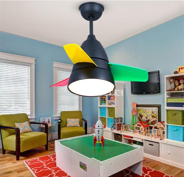 מאוורר תקרת אור 220 v 65 W חדר ילדים 3 דוכנים פשוט סלון אורות מאוורר מיני אספקת חדר שינה מודרני מסעדה
