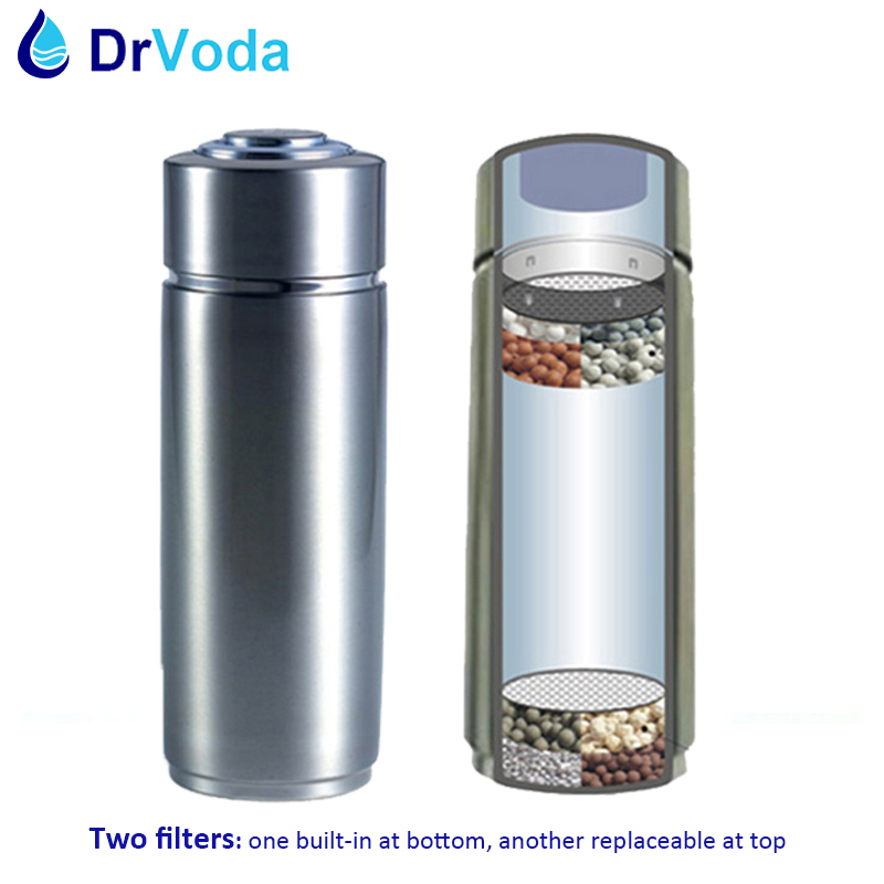 400ml PH 9 0 Two Layers 304 Stainless Alkaline Portable Water Ionizer Bottle Nano Energy Flask