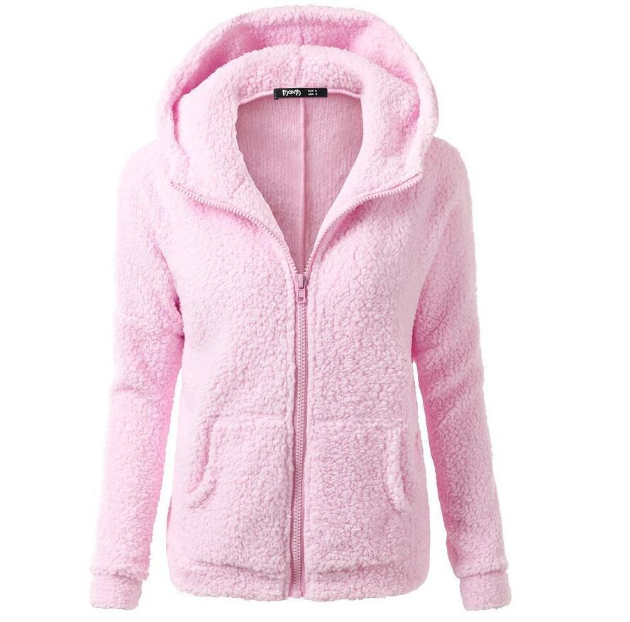soup dream new Women Winter Fleece   Jacket   Womens Thicken Warm Coat Female Windproof Polar Fleece   Basic     Jacket   Plus Size S-5xl