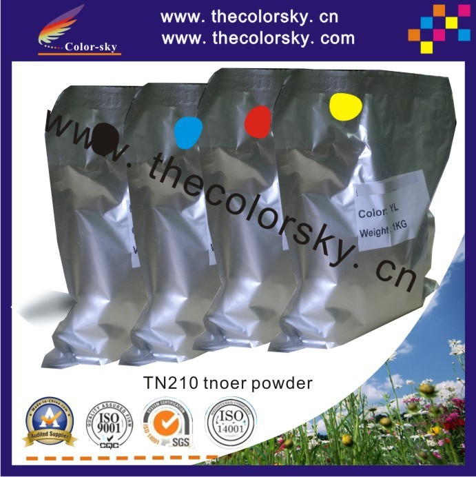 (TPBHM-TN210) premium color toner powder for Brother HL 3040 3070 3040CN 3070CW bk c m y 1kg/bag/color Free fedex