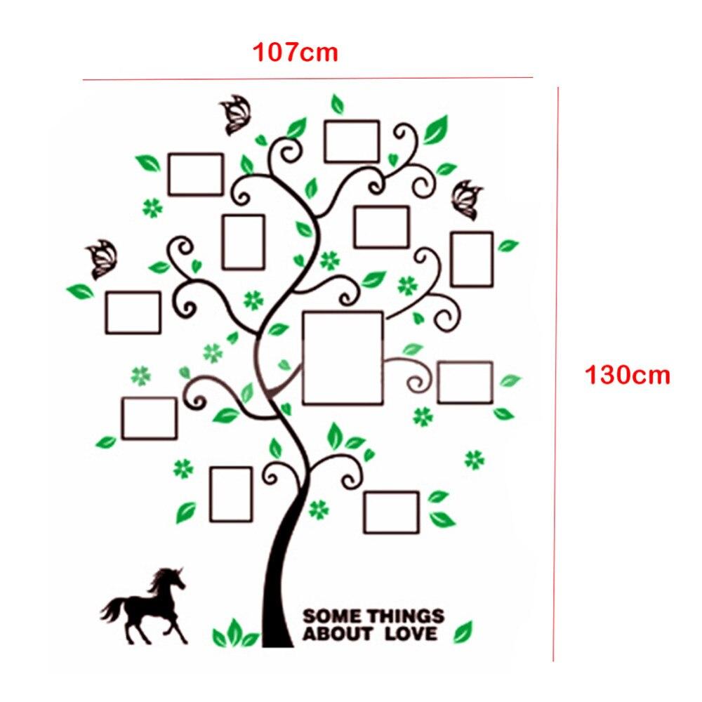 3D acrílico DIY familia foto Marcos árbol etiqueta de la pared ...