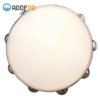 Drums ADDFOO 10 Musical Tambourine Wood Hand Held Tamborine Drum Round Percussion Gift For KTV Party Musical Educational
