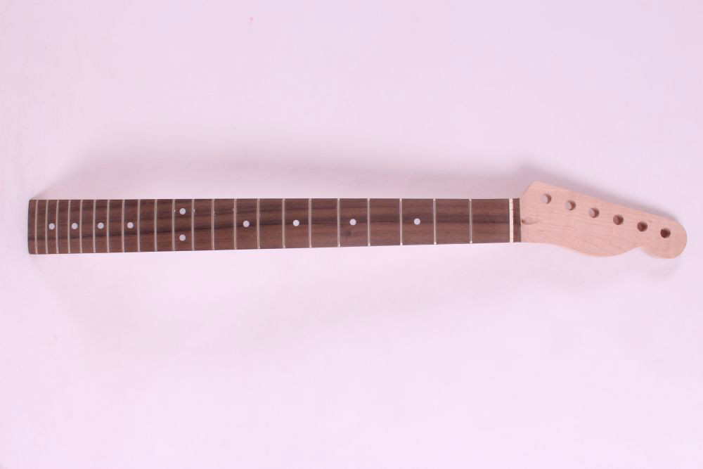 one  right  unfinished electric guitar neck maple   made and rosewood  fingerboard Bolt on 22 fret 7313 new one black 22 fret white good unfinished electric guitar neck maple made and maple fingerboard