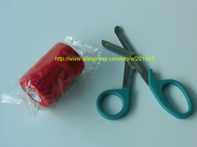 12 Unids/lote 7.5 cm x 4.5 m Auto-Adhesivo No Tejido Cohesivo Vendaje elástico Envoltura Adherente + 1 unid de médicos vendaje clipper