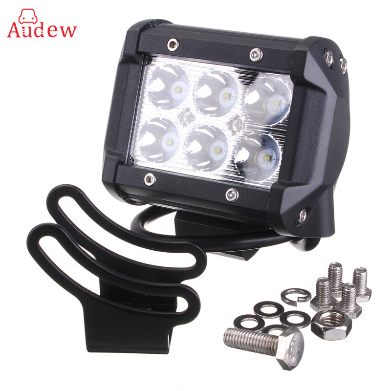 4inch 18W LED Work Spot Light Spot Flood Beam Offroad Auto Lamp for Motorcycle Tractor Boat Off Road Truck SUV Working Lamp 12V 12 inch 72w led work light bar for indicators motorcycle driving offroad boat car tractor truck flood 4x4 suv 12 24v fog light