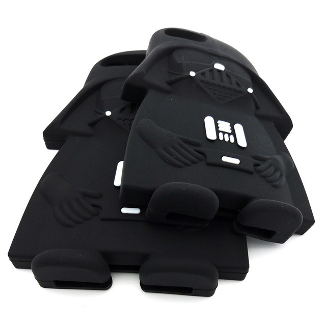 Hot 3D Star Wars Black Darth Vader Cartoon Silicone Phone Cases Cover For iPhone 7 7Plus 4 4S 5 5G 5S 6 6G 6S 6Plus Back Cover