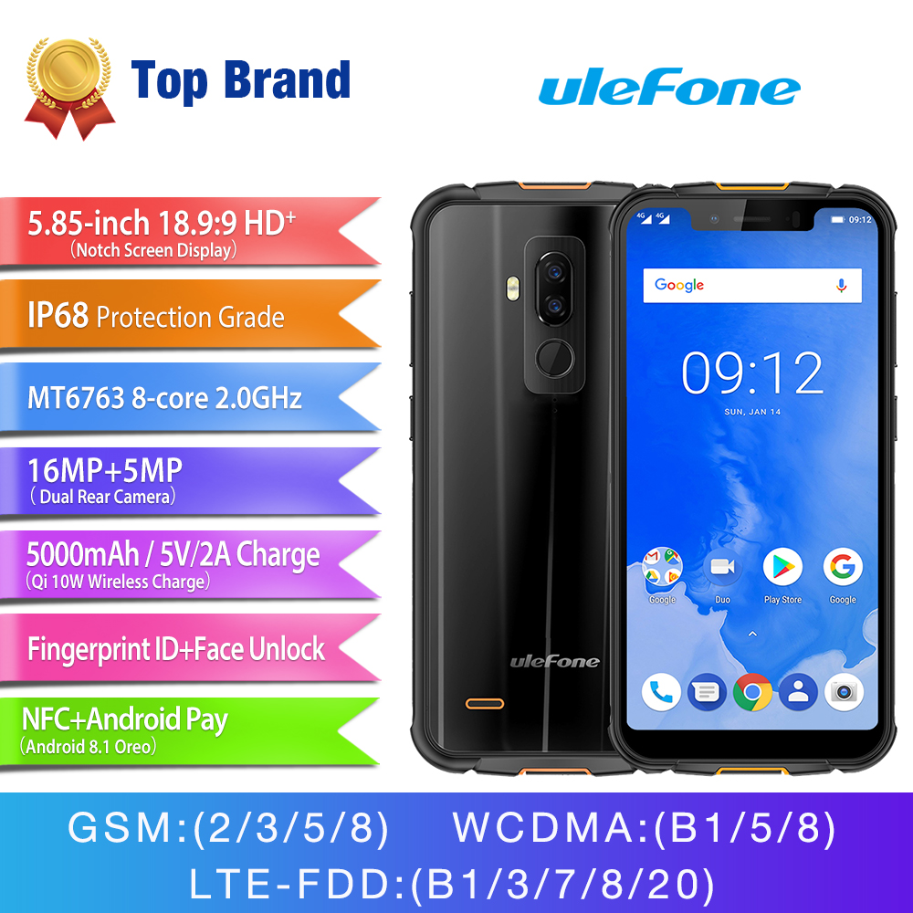Aliexpress.com : Buy Ulefone ARMOR 5 MTK6763 Octa Core Face ID Mobile Phone 5.85 Inch HD+ Android 8.1 4GB+64GB 16MP Dual Back Camera NFC ...