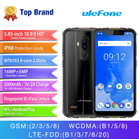 Ulefone ARMOR 5 MTK6763 Octa Core Face ID Mobile Phone 5.85 Inch HD+ Android 8.1 4GB+64GB 16MP Dual Back Camera NFC Fingerprint