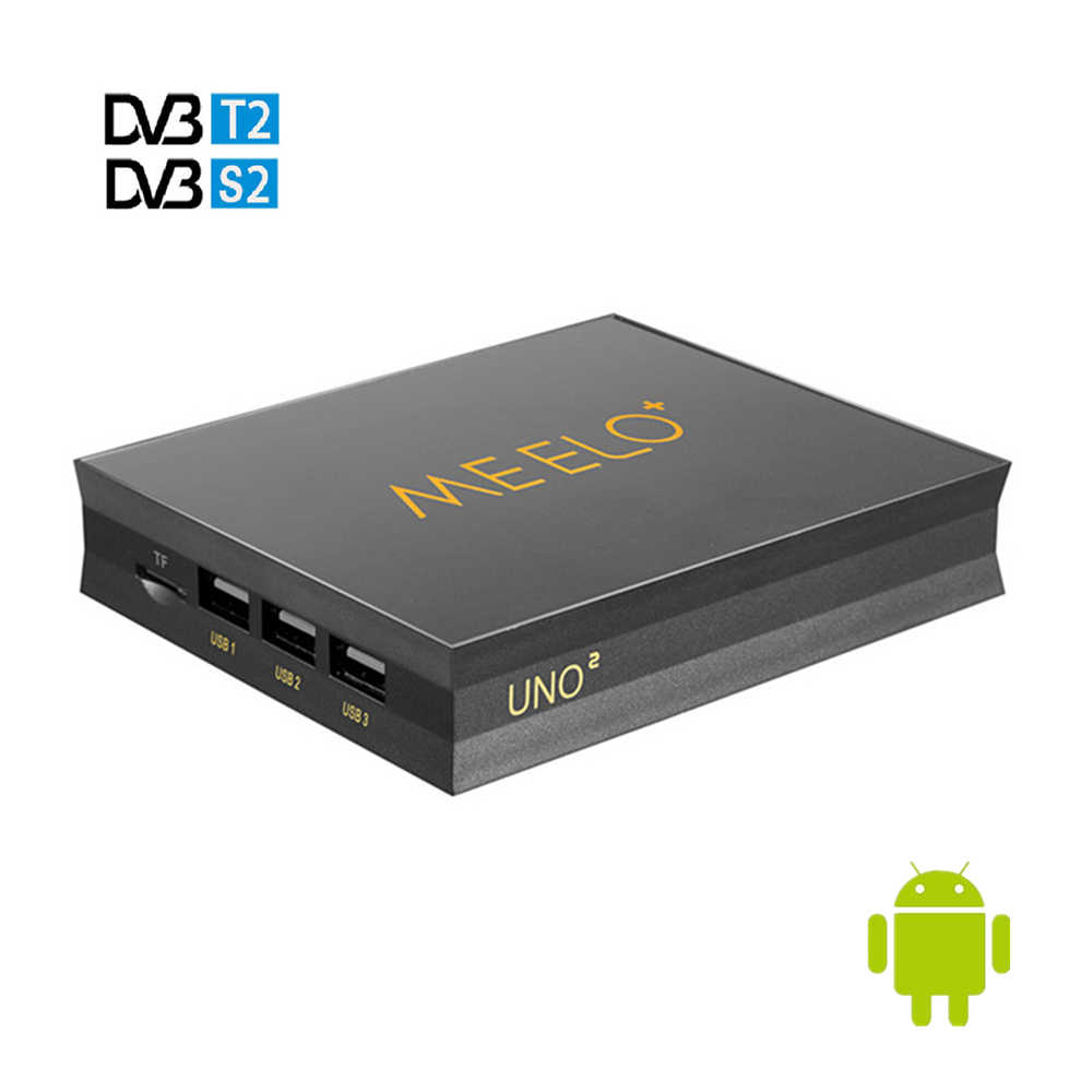 MEELO UNO2 DVB-T2 DVB-S2 Android 5.1 TV Box 1GB 8GB Amlogic S905 Quad-core H.265 4K 2.4GWifi MEELO UNO lecteur multimédia intelligent