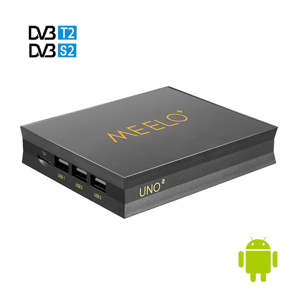 MEELO UNO DVB-T2 DVB-S2 Android 5.1 TV Box 2GB/16GB Amlogic S905 Quad-core H.265 4K 2.4G&5G Wifi MEELO UNO2 Smart Media Player