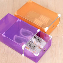 1/3PCS Eco-Friendly Shoe Storage Box Transparent Plastic Rectangle PP Organizer Thickened Drawer Home