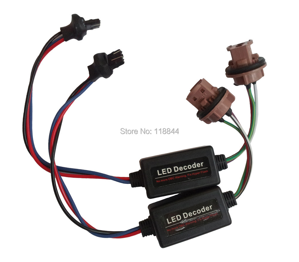 2Pcs T20 7440 7443 LED Error Canceller Canbus Load Resistor Hyper Flash Decoder 12V Free Shipping led headlamp can bus error free decoder emc interference decoding car filter anti flicker resistor canceller led headlights