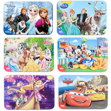 Disney Frozen Cartoon Wooden Toys Puzzle Mickey Anna Elsa Winnie Ariel puzzles for kids For Children toys