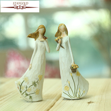 Dresses Bouquets Angel Ornaments Home Accessories Resin Crafts Furnishings Home Decoration Accessories Fairy Garden Miniatures