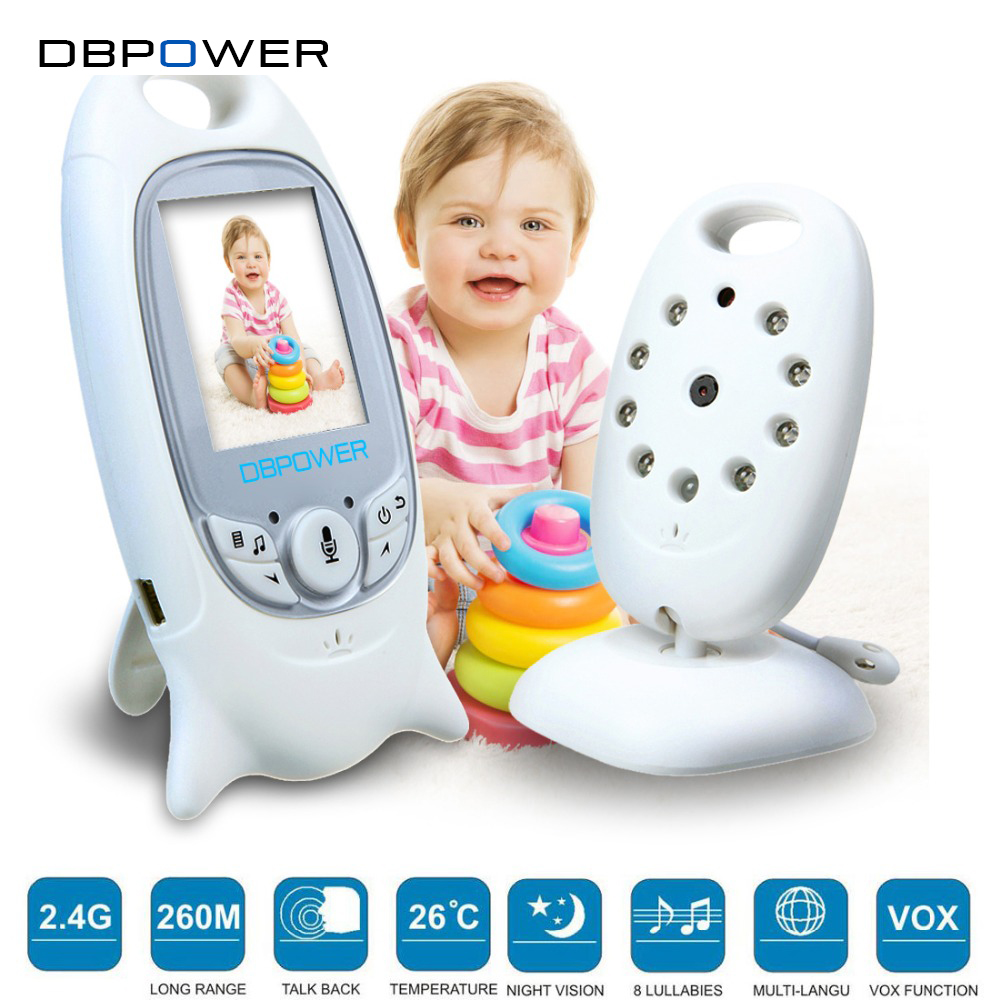 "bilder für DBPOWER Wireless Video Baby Monitor Überwachungskamera 2 ""/2,4"" Lcd-bildschirm 2 Zwei-wege-diskussion Vision 5 Mt IR LED Temperatur Problemlose"