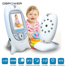 "DBPOWER Wireless Video Baby Monitor Security Camera 2""/2.4"" LCD Screen 2 Way Talk Night Vision 5M IR LED Temperature Hassle-Free(China)"