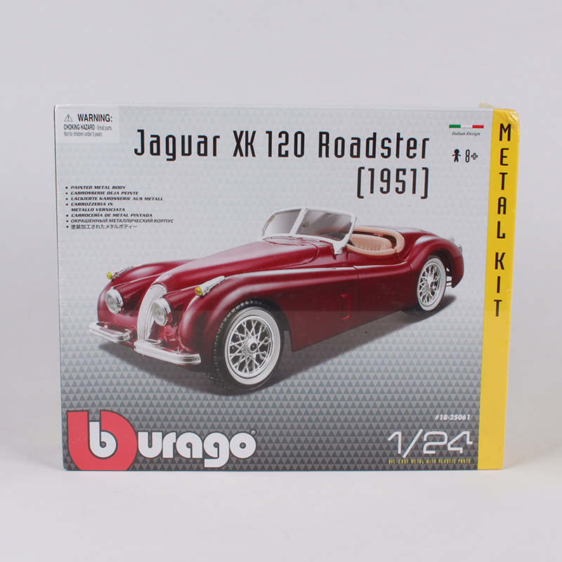 Bburago 1:24 Jaguar 1951 XK 120 Roadster car diecast kits classic luxury car model piece together manual assemble car toy 25061Bburago 1:24 Jaguar 1951 XK 120 Roadster car diecast kits classic luxury car model piece together manual assemble car toy 25061