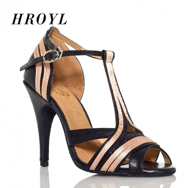 New HROYL Women Latin dance shoes For Girls ladies Ballroom Tango Heeled Dancing Shoes 10/8.5/7.5CM Heel Salsa BD wholesales
