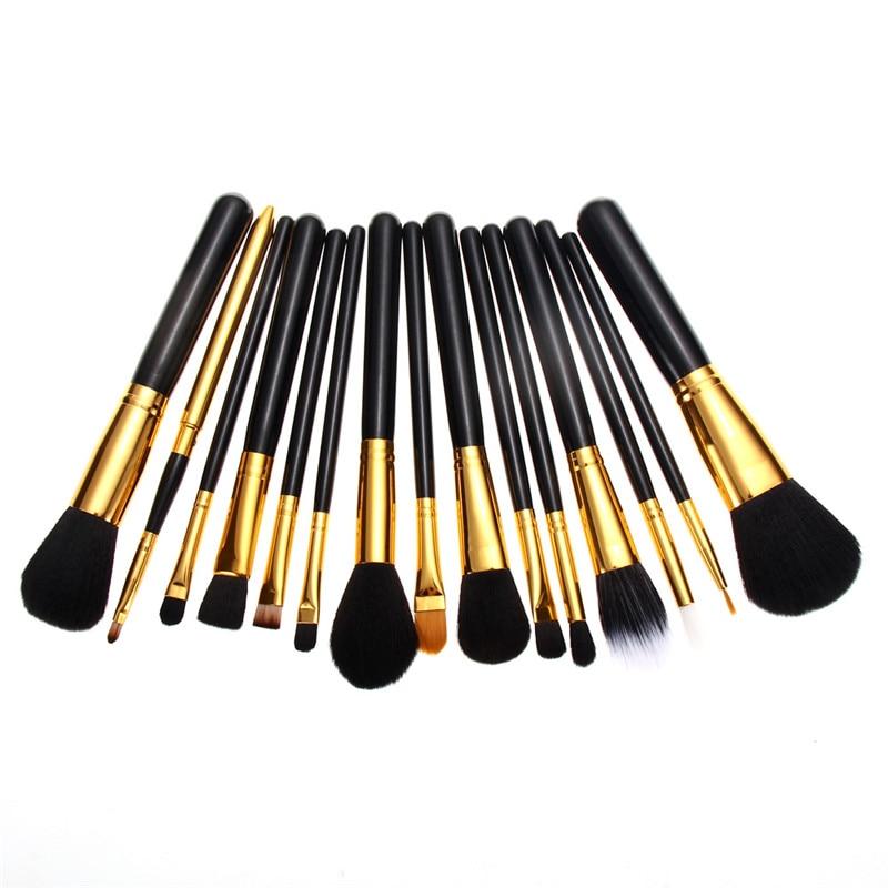 Nuevo Profesional 15 unids Base En Polvo de Cepillo Del Maquillaje de Sombra de